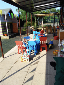 The amazing, revamped EYFS outdoor learning area